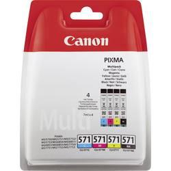 Sada náplní do tlačiarne Canon CLI-571 BKCMY 0386C005, foto čierna, zelenomodrá, purpurová, žltá