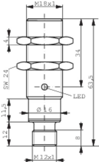 Induktiver Näherungsschalter M18 quasi bündig PNP Contrinex DW-AS-503-M18-002