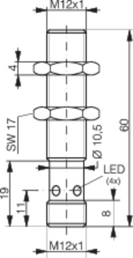 Induktiver Näherungsschalter M12 bündig PNP Contrinex DW-AS-703-M12