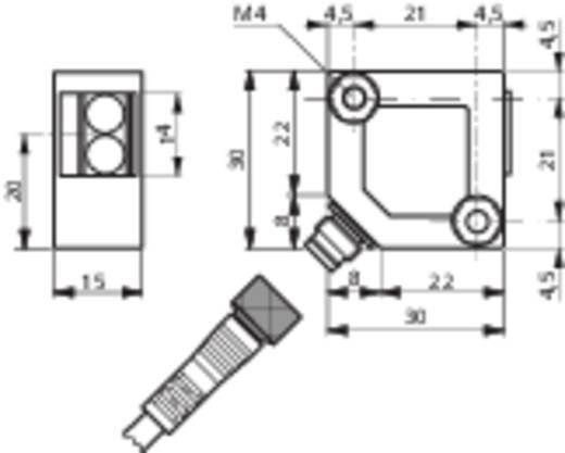 Reflexions-Lichttaster LTS-3031-303 Contrinex hellschaltend 10 - 36 V/DC 1 St.