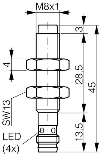 Induktiver Näherungsschalter M8 nicht bündig PNP Contrinex DW-AS-613-M8-001