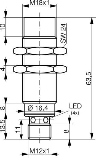 Induktiver Näherungsschalter M18 nicht bündig PNP Contrinex DW-AS-613-M18-002