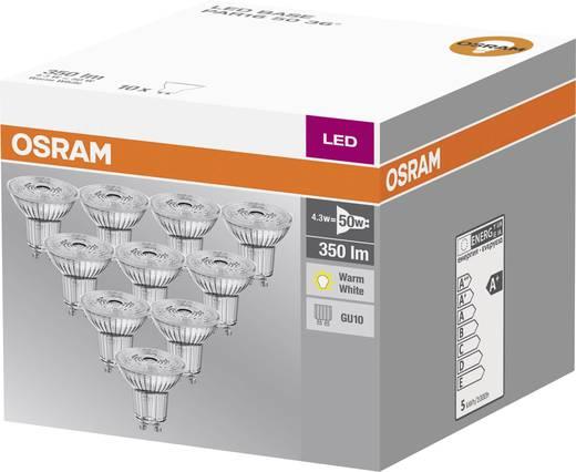 osram led gu10 reflektor 4 3 w 50 w warmwei x l 51. Black Bedroom Furniture Sets. Home Design Ideas