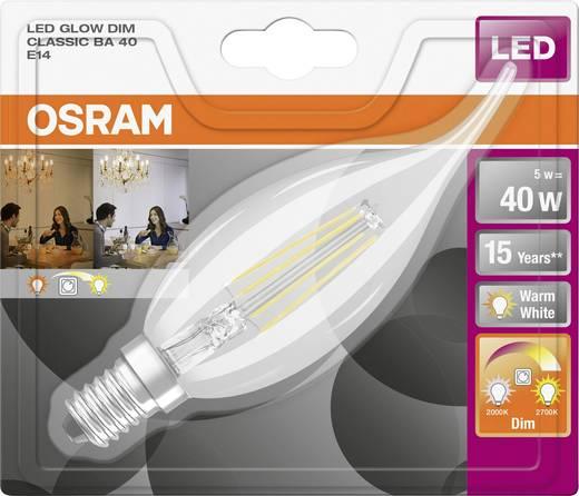 led e14 kerzenform windsto 5 w 40 w warmwei x l 35 mm x 143 mm eek a osram glowdim. Black Bedroom Furniture Sets. Home Design Ideas