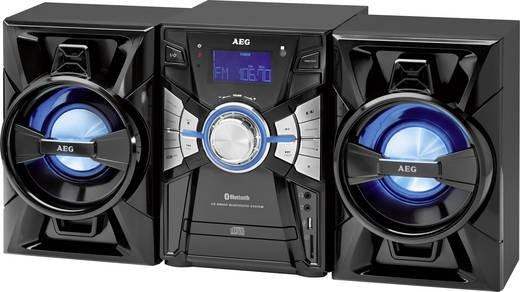 stereoanlage aeg mc 4465 aux bluetooth cd usb stimmungslicht schwarz. Black Bedroom Furniture Sets. Home Design Ideas