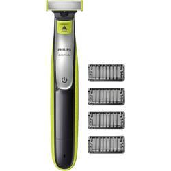 Holiaci strojček na tvár, zastrihávač fúzov Philips OneBlade QP2530/20, omývateľný, svetlozelená, tmavosivá