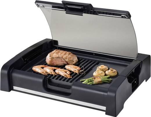 elektro tisch grill silva homeline bq 180 g mit glasdeckel schwarz kaufen. Black Bedroom Furniture Sets. Home Design Ideas