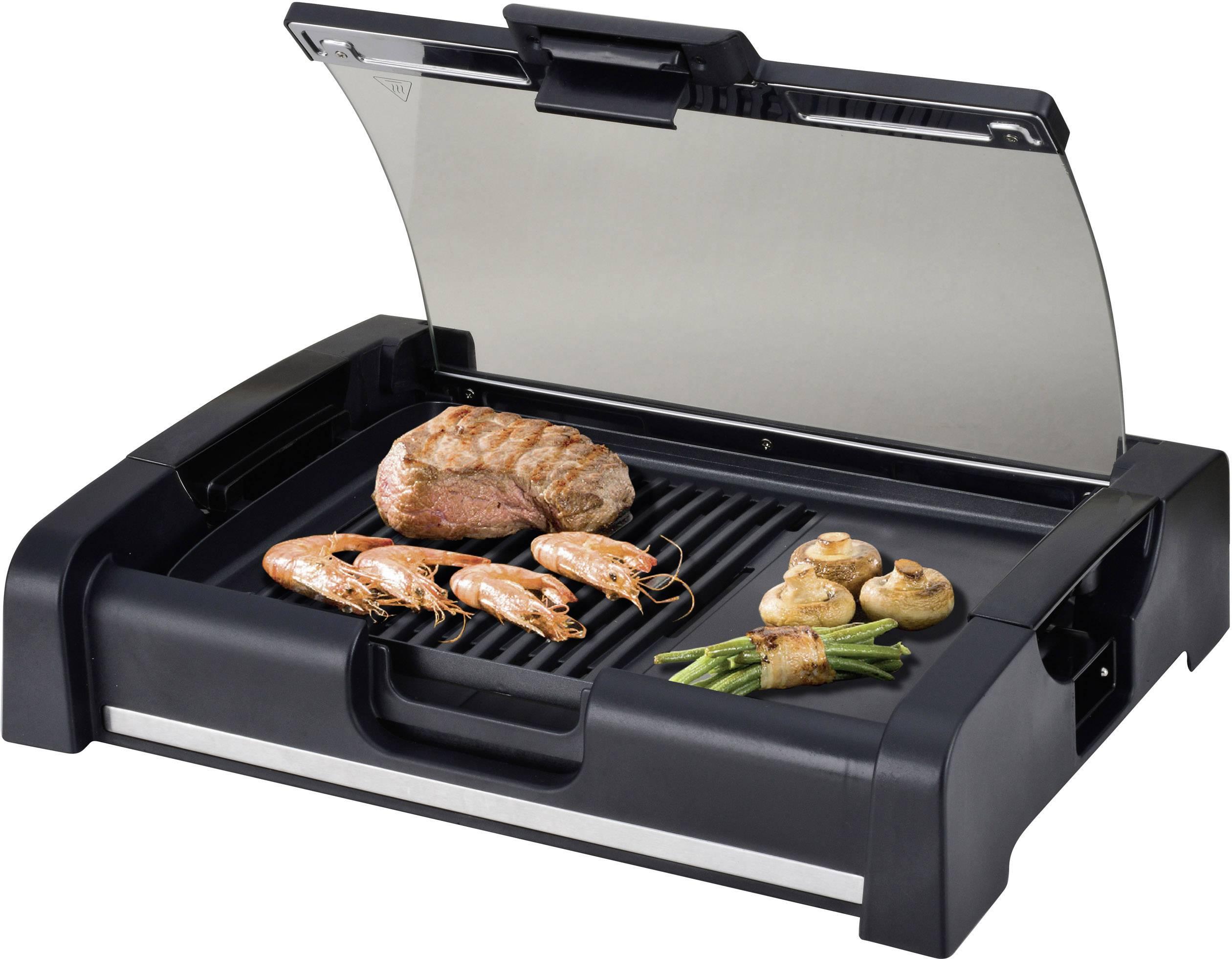 Tisch Elektrogrill Severin Kg 2397 : Silva homeline bq g elektro tisch grill mit glasdeckel schwarz