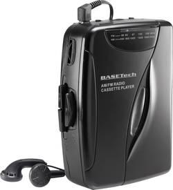 Přenosný přehrávač kazet Walkman s FM rádiem, Basetech KW-118C, černá