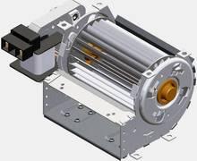 Querstromlüfter Motor links