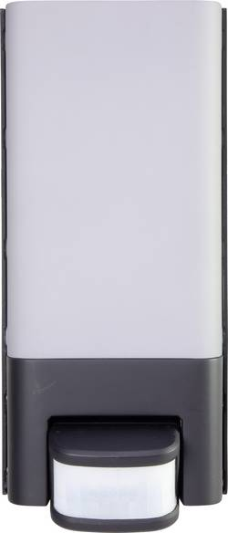 LED nástěnné světlo s PIR detektorem Polarlite PWL 10 10 W, studená bílá, černá