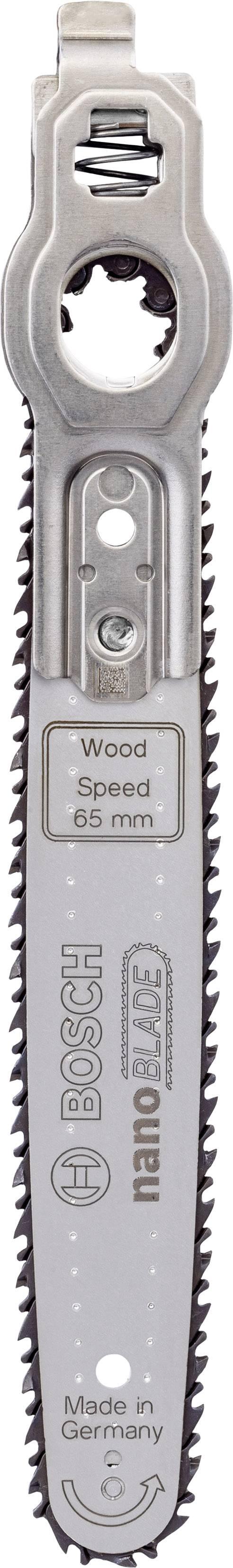 Mikro Kettensägeblatt Bosch Accessories nanoBLADE Wood Speed 65 2609256D86 Passend für EasyCut 50, EasyCut 12, AdvancedC