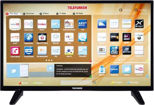 LED-TV 81 cm 32 Zoll Telefunken D32H287X4CWPL EEK A+ DVB-T2, DVB-C, DVB-S, HD ready, Smart TV, WLAN, CI+ Schwarz