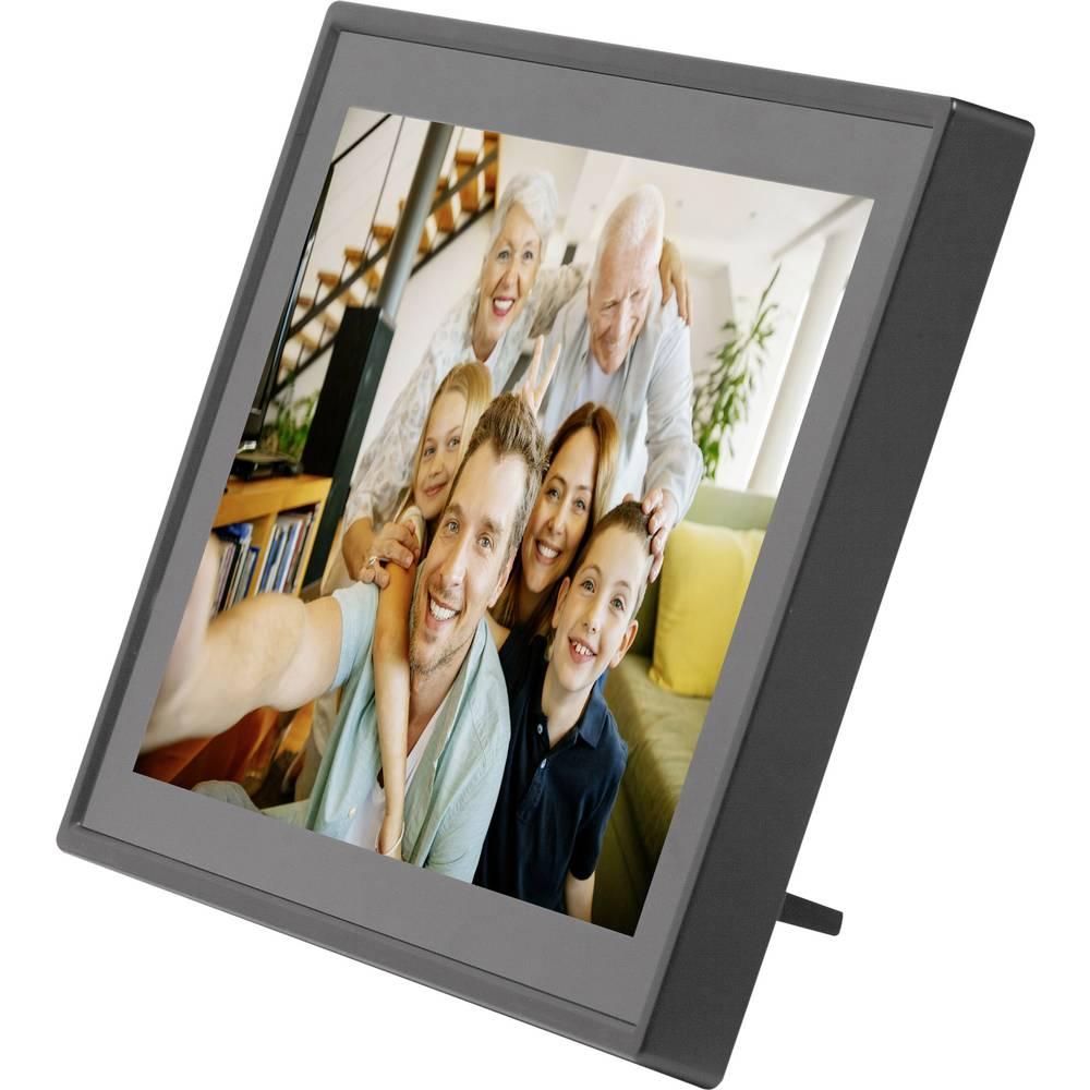 Denver PFF-1011 Black Digitaler WiFi-Bilderrahmen 25.7 cm 10.1 Zoll ...