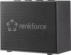 Bluetooth® reproduktor Renkforce BlackBox1 hlasitý odposlech (mikrofon pro telefonování), AUX, černá