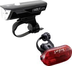 Image of Cateye Fahrradbeleuchtung Set GVOLT25/OMNI3G LED akkubetrieben, batteriebetrieben Schwarz