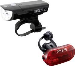 Image of Cateye Fahrradbeleuchtung Set GVOLT20 + OMNI3G LED batteriebetrieben Schwarz, Rot