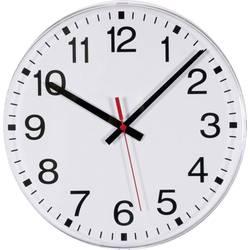 DCF nástenné hodiny EUROTIME 55000, vonkajší Ø 300 mm, biela
