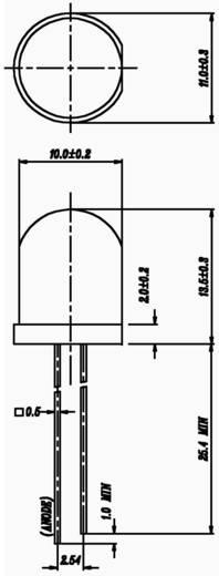 LED bedrahtet Rot Rund 10 mm 125 mcd 40 ° 20 mA 2 V Everlight Opto 363SURD/S530-A3