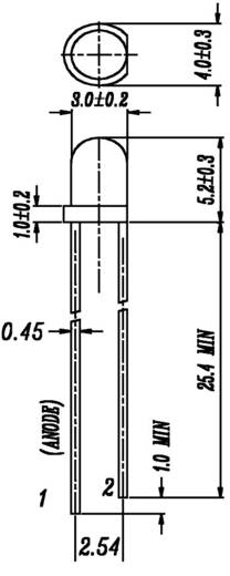 LED mehrfarbig Grün, Rot Rund 3 mm 4.5 mcd 75 ° 10 mA 2.1 V, 2 V Everlight Opto 204SDRSYGW/S530-A3