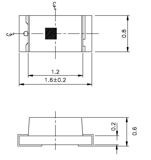 SMD-LED 0603 Weiß 72 mcd 130 ° 20 mA 3.15 V Everlight Opto 19-213/W1D-ANPQY/3T