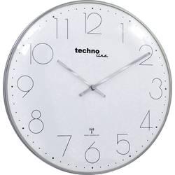 DCF nástenné hodiny Techno Line WT 8235 WT 8235 chrom-optik, vonkajší Ø 350 mm, chróm