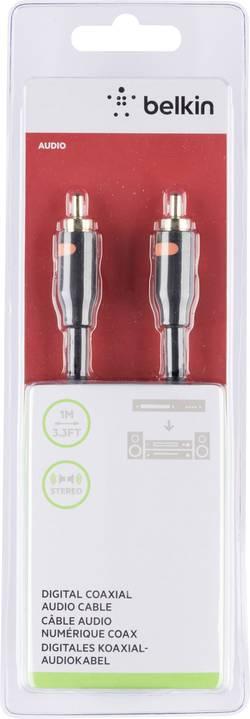 Image of Belkin Cinch-Digital Digital-Audio Anschlusskabel [1x Cinch-Stecker - 1x Cinch-Stecker] 1 m Schwarz