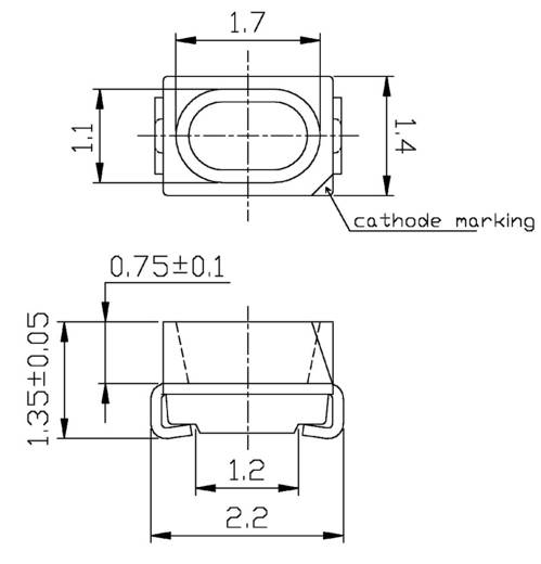 SMD-LED Sonderform Grün-Gelb 20 mcd 120 ° 20 mA 2 V Everlight Opto 65-21SYGC/S530-E2/TR8