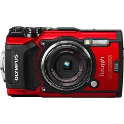 Digitální fotoaparát Olympus TG-5, 16 MPix, Zoom (optický): 4 x, červená