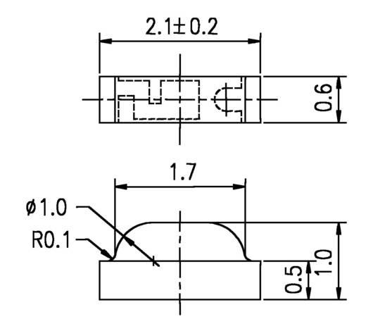 Everlight Opto 12-215/BHC-AN1P2/3C SMD-LED Sonderform Blau 45 mcd 130 ° 20 mA 3.5 V