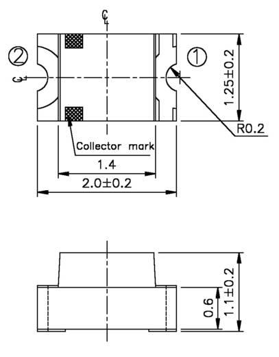 Fototransistor 0805 1200 nm Everlight Opto PT 17-21C/L41/TR8 Tape cut, re-reeling option