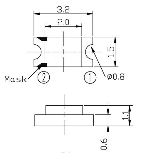 Fotodiode 1206 1200 nm Everlight Opto PD15-21B/TR8