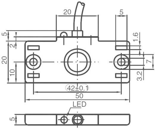 Kapazitiver Näherungsschalter 50 x 20 mm nicht bündig PNP Pepperl & Fuchs CBN10-F46-E2
