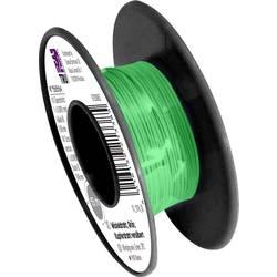 Navíjací drôt TRU COMPONENTS 1565164 Wire Wrap, 1 x 0.05 mm², vonkajší Ø 0.25 mm, 15 m, zelená