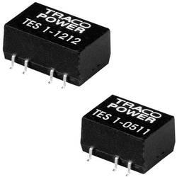 DC/DC měnič TracoPower TES 1-1212, vstup 12 V/DC, výstup 12 V/DC, 85 mA, 1 W