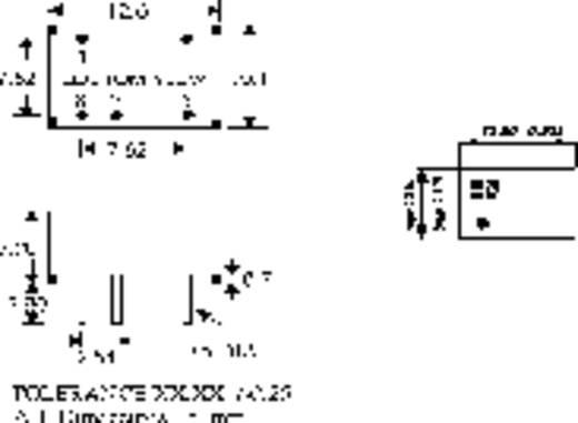 HN Power SIM1-1512S-DIL8 DC/DC-Wandler, Print 15 V/DC 12 V/DC 100 mA 1 W Anzahl Ausgänge: 1 x