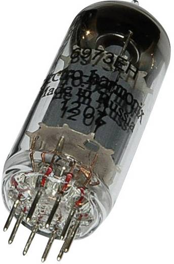 Elektronenröhre 6973 Strahlpentode 250 V 46 mA Polzahl: 9 Sockel: Noval Inhalt 1 St.
