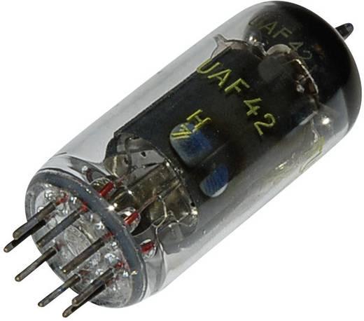 Elektronenröhre UAF 42 = 12 S 7 Diode-Pentode 100 V 2.8 mA Polzahl: 8 Sockel: 8pin Rimlock Inhalt 1 St.