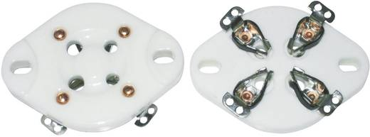 Röhrenfassung 1 St. 156846 Polzahl: 4 Sockel: UX-4 Montageart: Chassis Material:Keramik