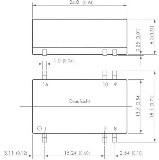TracoPower TES 2N-0511 DC/DC-Wandler, SMD 5 V/DC 5 V/DC 400 mA 2 W Anzahl Ausgänge: 1 x