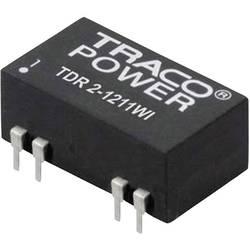 DC / DC menič napätia, DPS TracoPower TDR 2-1211WI, 12 V/DC, 5 V/DC, 400 mA, 2 W
