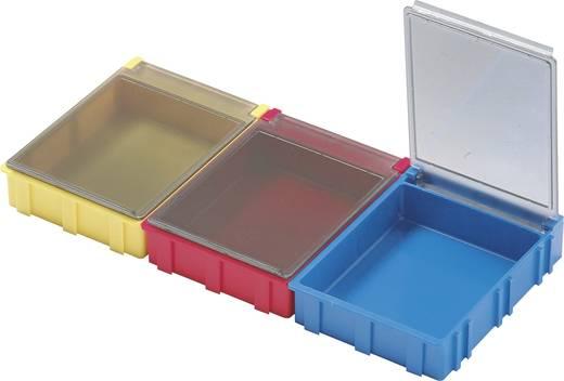 SMD-Box Rot Deckel-Farbe: Transparent 1 St. (L x B x H) 180 x 68 x 15 mm Licefa N52361