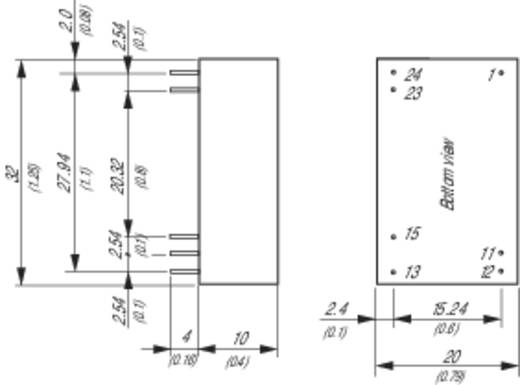 TracoPower THP 3-7212 DC/DC-Wandler, Print 72 V/DC 12 V/DC 250 mA 3 W Anzahl Ausgänge: 1 x