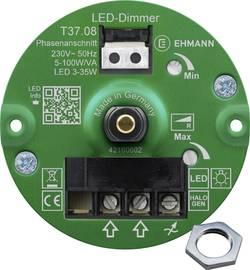 Image of Ehmann 3760c0810ch Unterputz Dimmer Geeignet für Leuchtmittel: LED-Lampe, Halogenlampe, Glühlampe Weiß