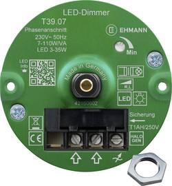 Image of Ehmann 3960c0710ch Unterputz Dimmer Geeignet für Leuchtmittel: LED-Lampe, Halogenlampe, Glühlampe Weiß