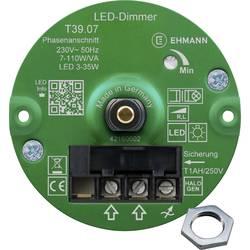 Image of Ehmann 3960x0710ch Unterputz Dimmer Geeignet für Leuchtmittel: LED-Lampe, Halogenlampe, Glühlampe Weiß