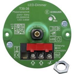 Image of Ehmann 3960x0810ch Unterputz Dimmer Geeignet für Leuchtmittel: Glühlampe, Halogenlampe, LED-Lampe Weiß
