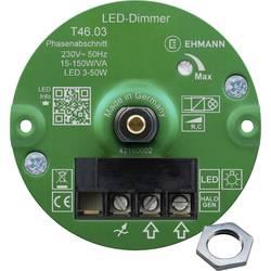 Image of Ehmann 4660x0310ch Unterputz Dimmer Geeignet für Leuchtmittel: Glühlampe, Halogenlampe, LED-Lampe Weiß