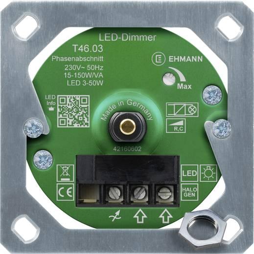 ehmann 4660c0310ch unterputz dimmer geeignet f r leuchtmittel gl hlampe halogenlampe led. Black Bedroom Furniture Sets. Home Design Ideas