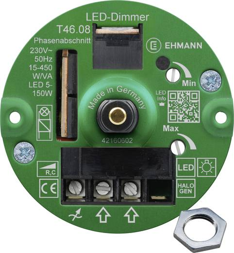 ehmann 4660c0810ch unterputz dimmer geeignet f r leuchtmittel gl hlampe halogenlampe led. Black Bedroom Furniture Sets. Home Design Ideas